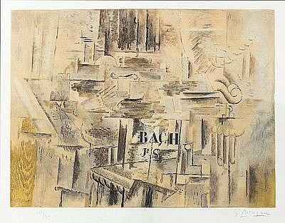 Georges Braque Etching Hommage a JS Bach for Sale by Masterworks Fine Art Gallery