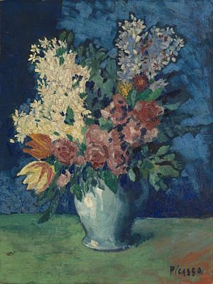 Pablo Picasso Flowers and Bouquets Paintings Fleurs, 1901. Tate Modern, London