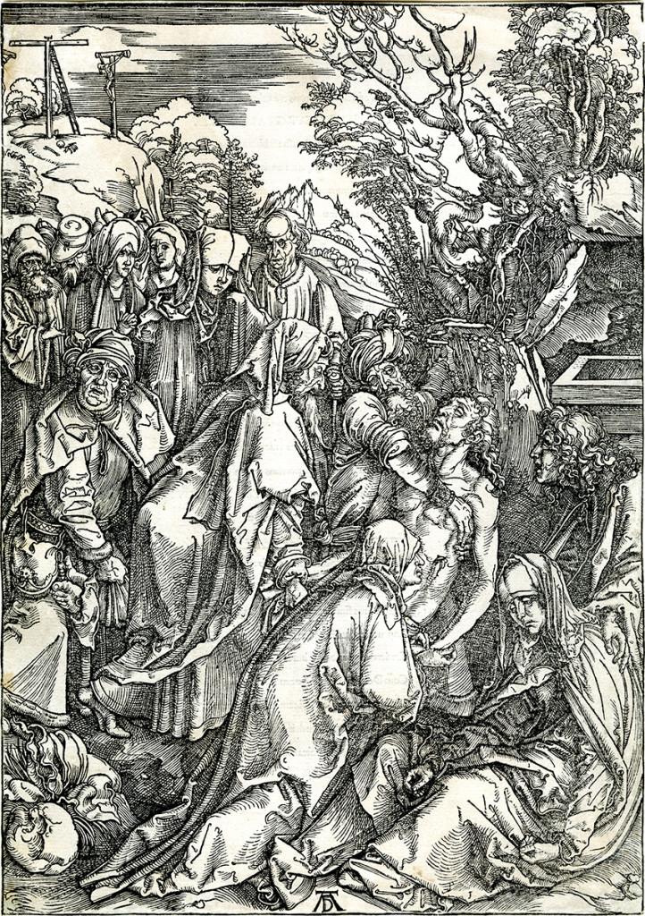 Albrecht Durer woodcut, Deposition of Christ